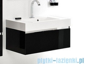 Antado Cantare szafka z umywalką 60x50x33 czarny połysk FSM-342/6GT-48/48 + UNA-600