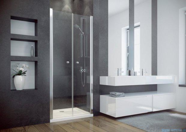 Besco Sinco Due drzwi prysznicowe dwuskrzydłowe 90x195 przejrzyste DSD-90