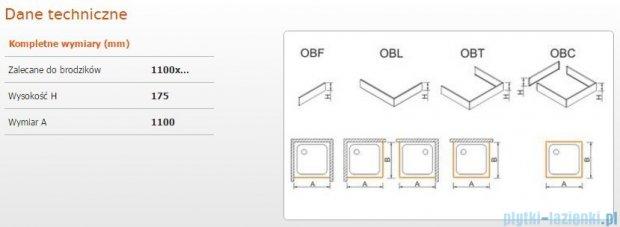 Sanplast obudowa frontowa do brodzika OBF 110x17,5cm biała 625-403-0340-01-000