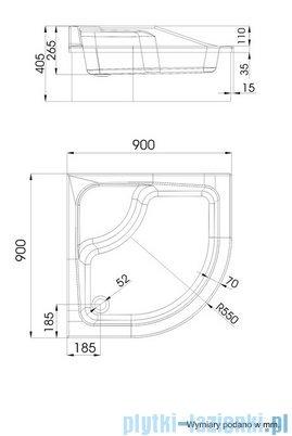 Schedpol Go Baby Brodzik półokrągły z siedziskiem 90x90x26cm 3.039