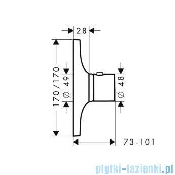 Hansgrohe Axor Bateria termostatowa podtynkowa DN15/DN20 z termoelementem 18740000