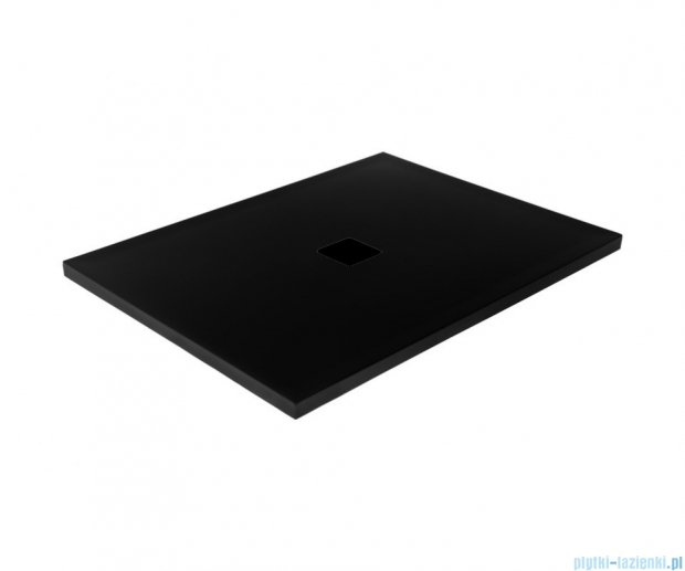 Besco Nox ultraslim black 120x80cm brodzik prostokątny czarny/czarny BMN120-80-CC