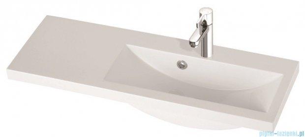 Marmorin umywalka nablatowa Talia 90P, 90 cm prawa bez otworu biała 270090922010