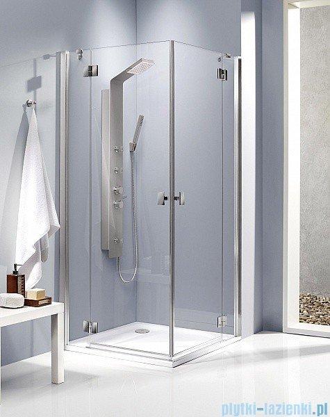 Radaway Kabina prysznicowa Essenza KDD 90x80 szkło brązowe + brodzik Doros D + syfon 32875-01-08NL