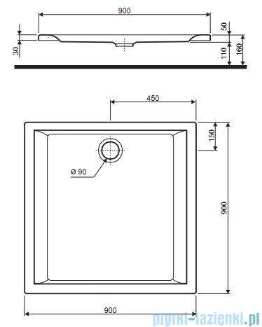Koło Pacyfik Brodzik 90cm kwardatowy XBK0790000