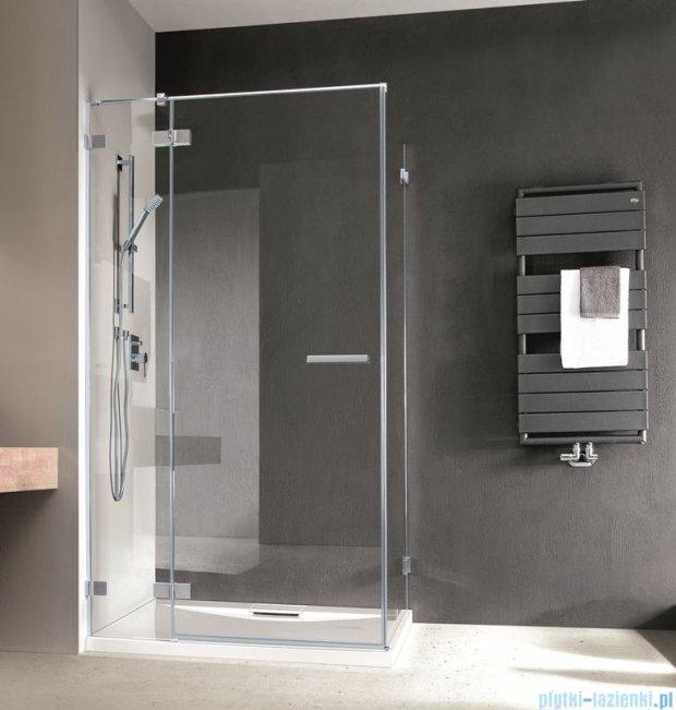 Radaway Euphoria KDJ Kabina prysznicowa 100x100 lewa szkło przejrzyste + brodzik Delos C + syfon 383040-01L/383052-01/SDC1010-01
