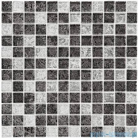 Dunin Spark mozaika szklana 30x30 carbon mix 23