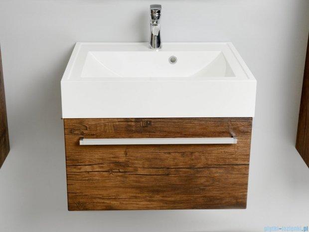 Antado Spektra szafka z umywalką, wisząca 60x50x33 stare drewno FDF-442/6GT-50 + UNA-600