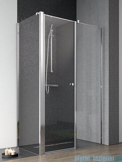 Radaway Eos II KDS kabina prysznicowa 100x100 prawa szkło przejrzyste + brodzik Delos C + syfon 3799482-01R/3799412-01L/SDC1010-01
