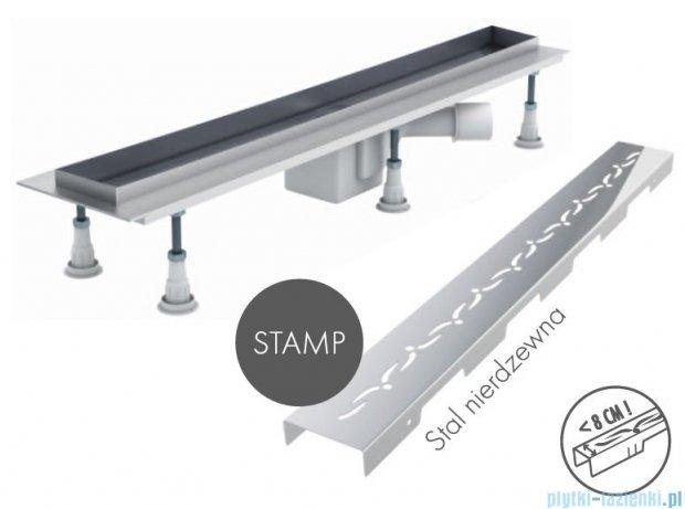 Schedpol odpływ liniowy z maskownicą Stamp 80x8x9,5cm OLSP80/ST