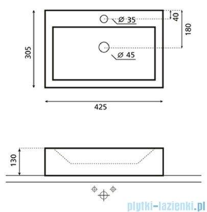 Bathco umywalka nablatowa Gerona 42,5x30,5 cm 0037