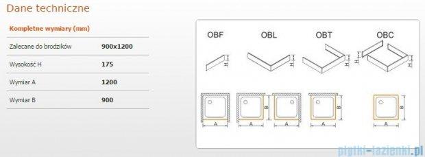 Sanplast Obudowa do brodzika OBL 90x120x17,5 cm 625-403-1550-01-000