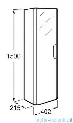 Roca Dama-n Kolumna z 4 półkami 150 cm Taupe mat A856956373
