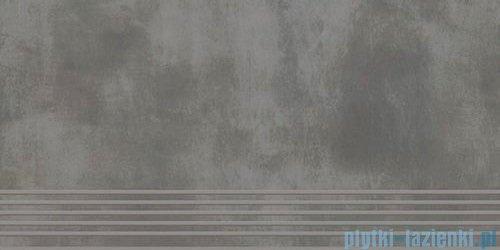 Paradyż Tecniq grafit mat stopnica 29,8x59,8