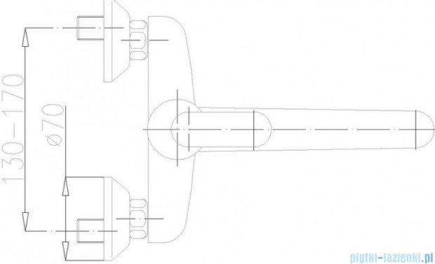 KFA Cyrkon bateria zlewozmywakowa ścienna, kolor decorum 580-930-00