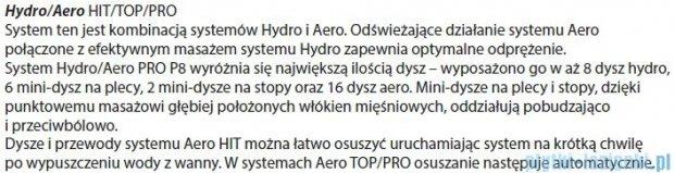 Riho Geta wanna asymetryczna 160x90cm prawa z hydromasażem TOP Hydro 6+4+2/Aero11 BA86T5