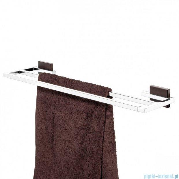 Tiger Zenna Wieszak ręcznikowy podwójny chrom/wenge/ceramika 3511.83