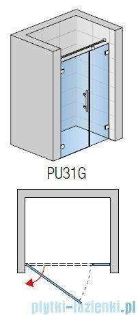 SanSwiss PUR PU31 Drzwi lewe wymiary specjalne do 160cm efekt lustrzany PU31GSM21053