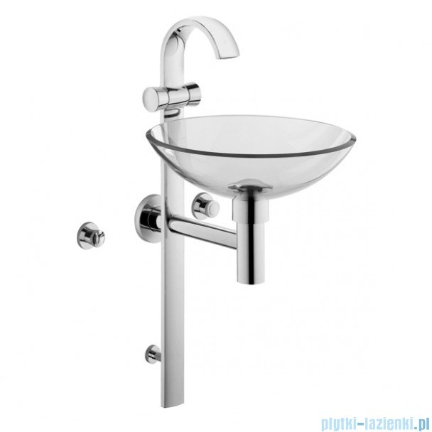 Kludi Joop Kolumna umywalkowa chrom/szkło przezroczyste 55115D1