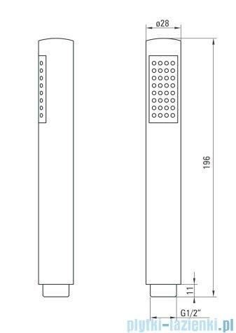 Deante Cynia komplet podtynkowy chrom NAC 09BP