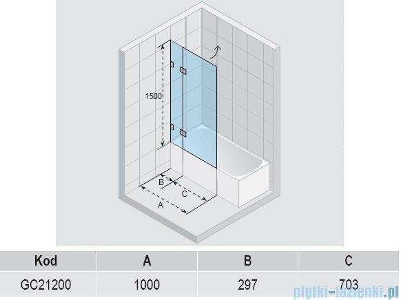 Riho Scandic S109 parawan nawannowy  100x150 cm GC21200
