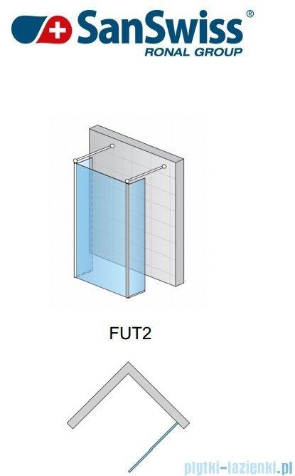 SanSwiss Fun Fut2 Ścianka jednoczęściowa 120cm profil połysk FUT212005007