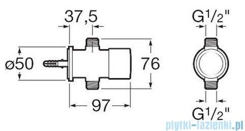 Roca Sprint-N Natynkowy zawór ciśnieniowy do pisuaru chrom A5A9124C00