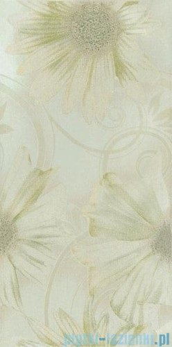Paradyż Sabro verde kwiat inserto ścienne 29,5x59,5
