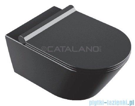 Catalano Zero Nero wc 55 miska WC wiszący 55x35cm czarny 1VS55NNE