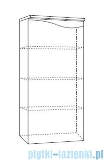 Antado Wave słupek niski lewy 40x32cm grafit mat VA-165L-U164