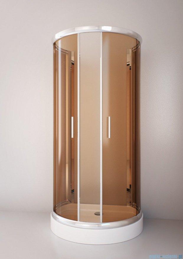 Sea Horse Sigma kabina natryskowa przyścienna półokrągła, 100x80, szkło: brązowe,   BK002/3/XB