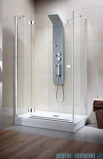 Radaway Kabina prysznicowa Fuenta KDJ 90x90 lewa szkło przejrzyste + Brodzik Argos C + syfon 381038-01L