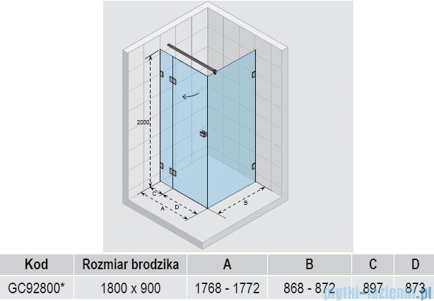 Riho Scandic S203 kabina prysznicowa 180x90x200cm GC92800