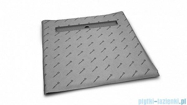 Radaway kwadratowy brodzik podpłytkowy z odpływem liniowym Basic 89x89cm 5CL0909A,5R065B,5SL1
