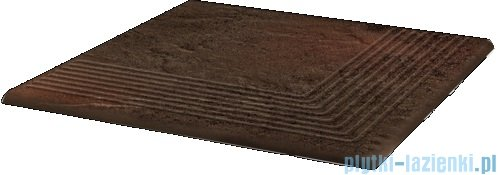 Paradyż Semir brown klinkier stopnica narożna 30x30
