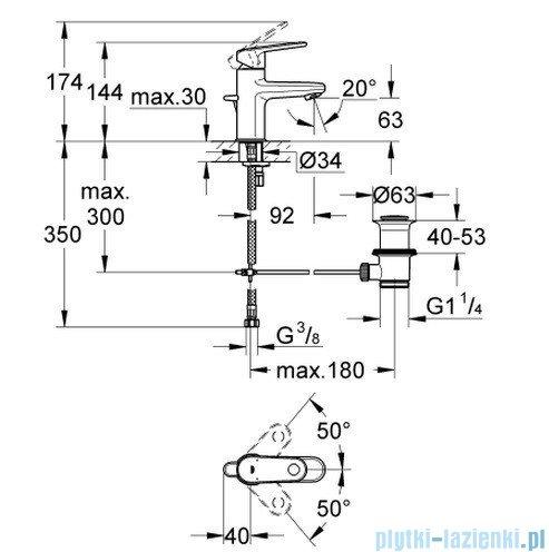 Grohe Europlus bateria umywalkowa DN 15 niska 33156002