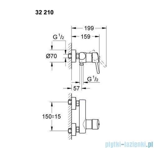 Grohe Concetto jednouchwytowa bateria prysznicowa  32210 001