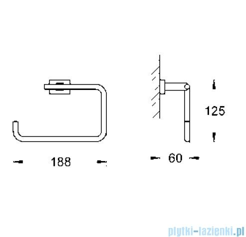 Grohe Essentials Cube wieszak na ręcznik 40510000