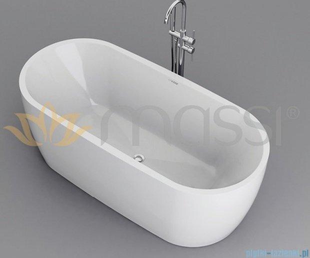 Massi Elegant 150 wanna wolnostojąca 150x75cm biała + syfon MSWA822150