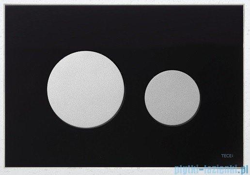 Tece Przycisk spłukujący ze szkła do WC Teceloop szkło czarne przyciski chrom matowy 9.240.655