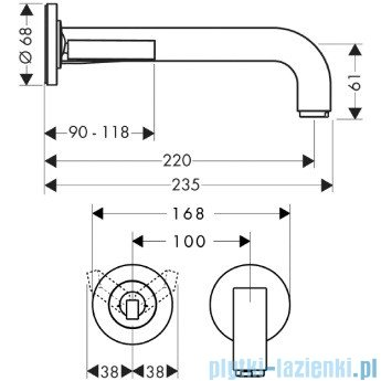 Hansgrohe Axor Citterio Jednouchwytowa bateria umywalkowa podtynkowa 39116000