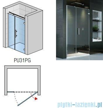 SanSwiss PUR PU31P drzwi prawe 140x200cm przejrzyste PU31PD1401007