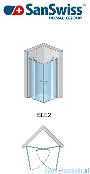 SanSwiss Swing Line SLE2 Wejście narożne 70-120cm profil biały Lewe SLE2GSM10407
