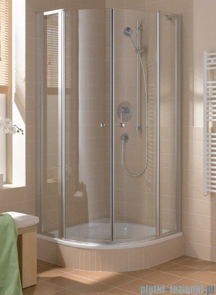 Kermi Cada Kabina ćwierćkolista z drzwiami wahadłowymi, szkło przezroczyste CadaClean 100x100cm CAP48100182PK