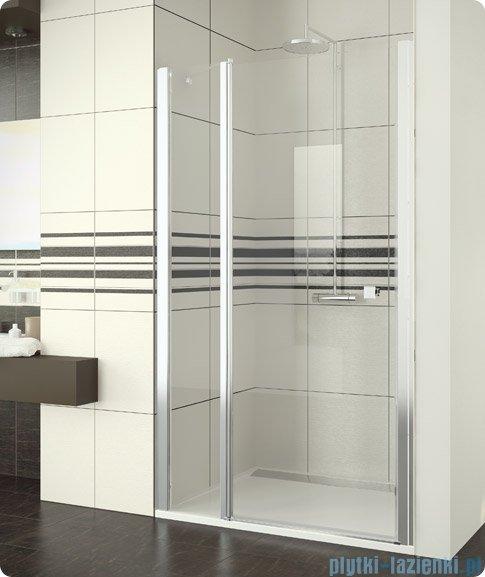 SanSwiss Swing Line SL13 Drzwi prysznicowe 120-160cm profil połysk SL13SM25007