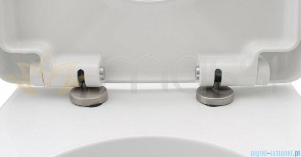 Massi Loca miska wisząca+deska wolnoopadająca z zawiasem metalowym biała MSM-3083DU