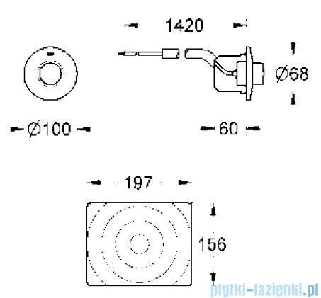 Grohe uruchamianie pneumatyczne ręczne   37059000