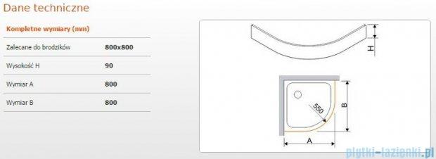 Sanplast Obudowa brodzika półokrągłego OBP 80x80x9 cm 625-400-0420-01-000