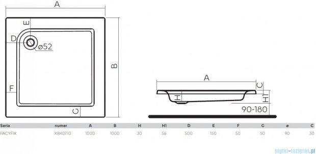 Koło Pacyfik Brodzik 100cm kwadratowy XBK0710000