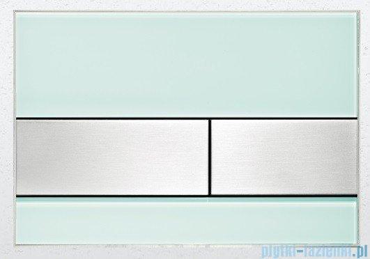 Tece Przycisk spłukujący ze szkła do WC Tecesquare szkło zielone przyciski stal szczotkowana 9.240.804
